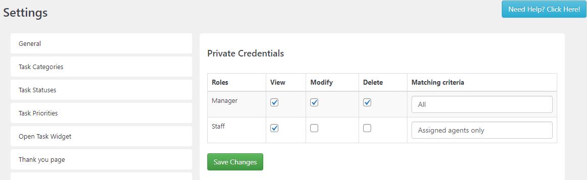 SC Private Credential