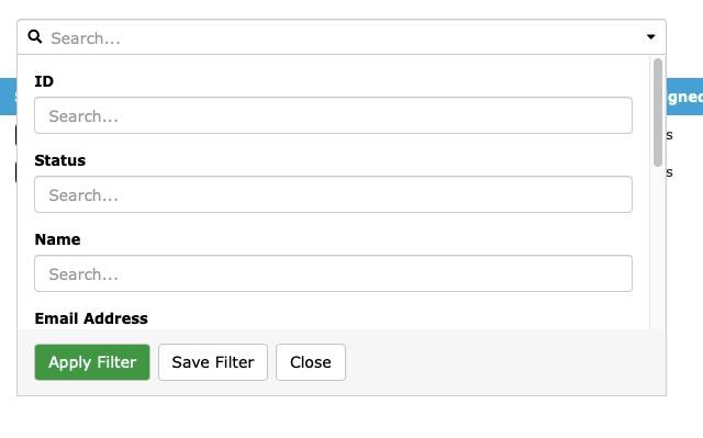 SC Admin Search Filter
