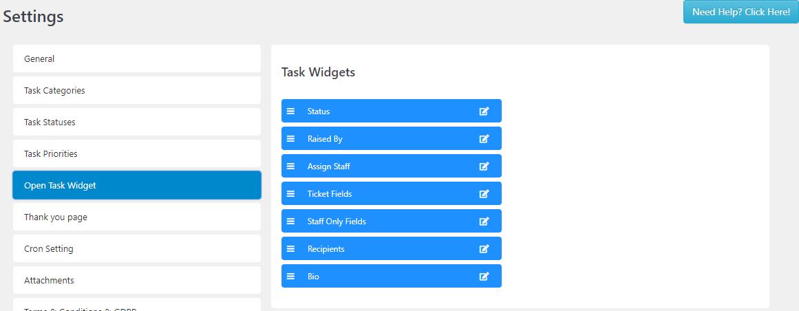 SC Task Widget