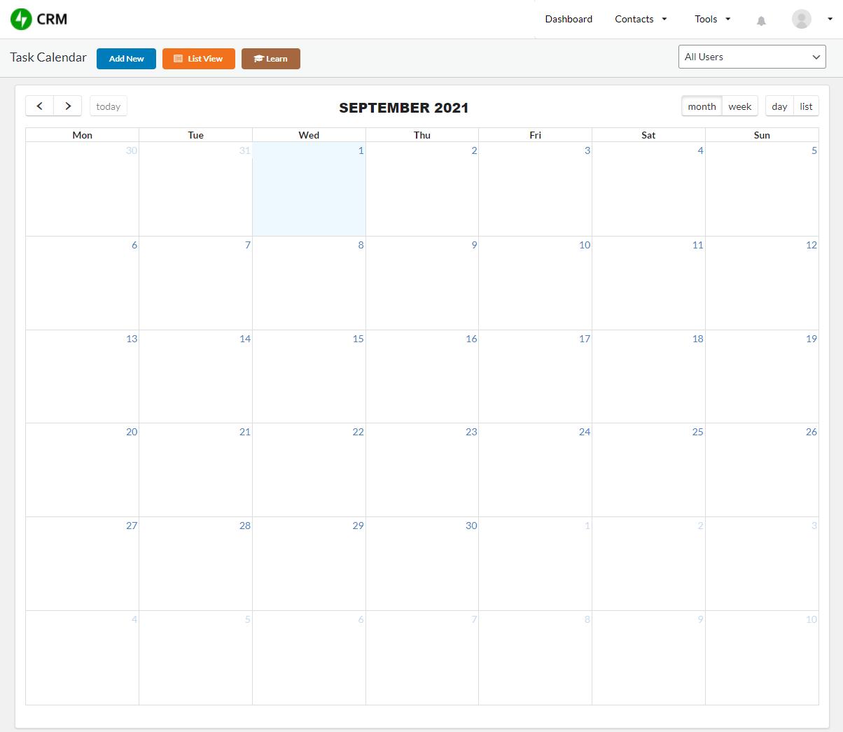 CRM Task Scheduler